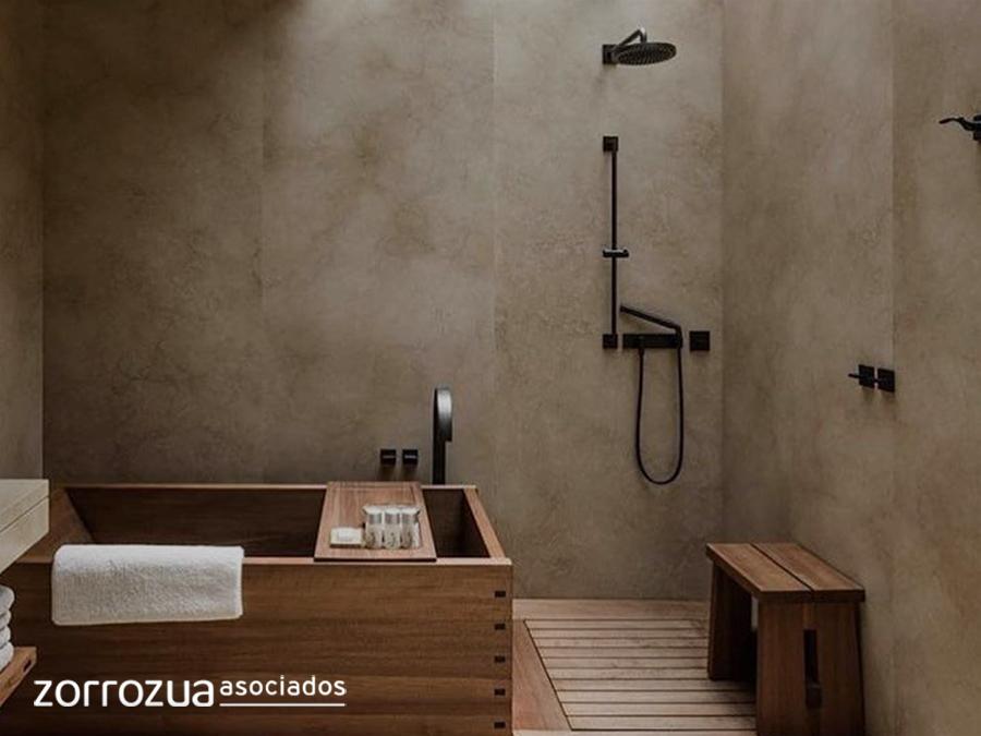 japandi baño